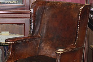 This was the chair used by Sir Winston Churchill while he selected his favourite cigars. Located at James J. Fox (where one of our monthly meetings is held).